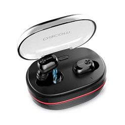 True Wireless Earbuds,Dacom Best TWS Bluetooth Earphones Mini in-Ear Bass Headphones with Mic and Portable Charging Case 72 Hours Playtime for Cell Phones (Black)