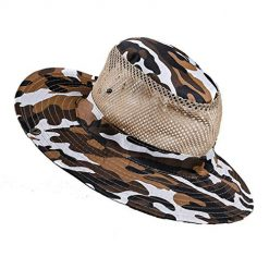 etuoji Men Fashion Summer Spring Outdoor Sun Protection Mountaineering Hat Sun Hats Coffee