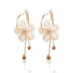 Ladiy Women Fashion Casual Retro Flower Hollow Out Earrings Drop