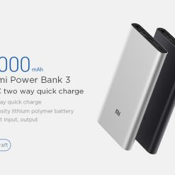Original 2019 Xiaomi 10000mAh Power Bank 3 Dual Input Output 18W Two-way QC3.0 Quick Charge for Mobile Phone - Silver