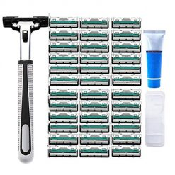 Pagacat Men Stainless Steel Double Blade Manual Razor Shaver Accessory Sets
