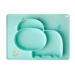 Zouvo Toddler Baby Feeding Plate One-Piece Silicone Placemat Divided Plates for Baby Child Mealtime Dishes