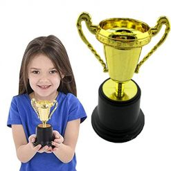 Pagacat Funny Creative Kids Plastic Gold Trophy Educational Prop Toy Table Decor Sports Souvenirs
