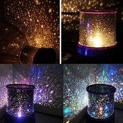 Ladiy Portable Beautiful LED Projection Lamp Party Decoration Lamp Night Lights