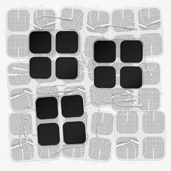 "DONECO 2"" Square TENS Unit Electrodes, 48-Pack Electro Pads for TENS Therapy - Universally Compatible with Most TENS Machine Models - 48-Piece Value Pack - Self-Adhering, Reusable and Premium Quality"