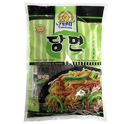 SUNGIVEN Sweet Potato Noodles, Korean Vermicelli Pasta, Fat-free and Gluten-free, 100% Sweet Potato Starch, No Additive, No Alum inside , 14.11 Ounce
