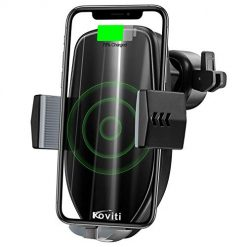Wireless Car Charger, 2019 Newest 10W Qi Fast Charging Car Charger Mount Phone Holder Automatic Clamping,Compatible for iPhone XS MAX/XR/XS/X/8Plus/8,Samsung Galaxy S9/S8/S8 Plus/S7/S6 Edge Plus/Note9