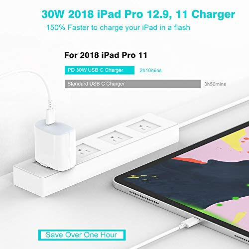 USB C Charger - Ultra Compact 30W Fast Charger for iPad Pro 12 9, 11 2018,  New MacBook Air, MacBook 12 inch, MacBook Pro, Samsung Galaxy S10 S9 S8,
