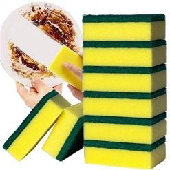 Ladiy Home Kitchen Double Layer Soft Strong Water Absorption Dishwashing Sponge