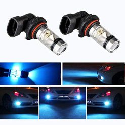 HOCOLO 9006 HB4 100W Cree LED Fog Light Lamp Bulbs for DRL Fog Driving Lights 8000K Ice Blue High Power LED Bulbs Car Vehicle Lighting Accessories (Set of 2) (9006/HB4, Light Blue)