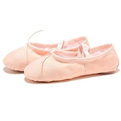 Asatr Unisex Casual Solid Elastic Band Flat Dancing Shoes Ballet Shoes Dance