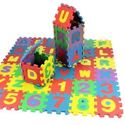 Zouvo Mini Kids Alphabet Number Toy Colorful Crawling Foam Mat Baby Educational Toys Baby Gyms & Playmats