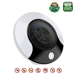 iFedio 2019 Ultrasonic Ultrasonic Pest Repeller Electronic New Upgrade Repelent Control Bug Best Plug in Home Indoor Black&White