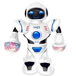 Fanala Toddler Multifunctional LED Smart Robot Dance Music Kids Education Toys Robotics