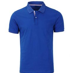 Kinlonsair Mens Casual Slim Fit Golf Polo Shirt, Athletic Short-Sleeve Blue Polo Golf Shirts Tops