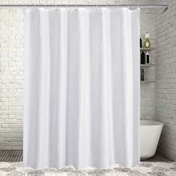 Sable Polyester Shower Curtain for Bathroom with Rustproof Grommets and Plastic Hooks, Waterproof,72 x 72 inches