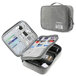 Universal Electronics Accessories Organizer, Waterproof Portable Cable Organizer Bag,Travel Gear Carry Bag for Cables Hard Driver (Grey)