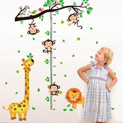 Caiuet- Kids Height Wall Stickers, 4Type Wall Decal Cartoon Self Adhesive PVC Wall Sticker Home Decoration