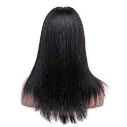 Ladiy Women Long Black Synthetic Wigs Long Straight Heat Hair Pre Plucked Wig