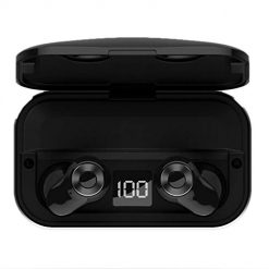 Legros8 Wireless Bluetooth Hifi Earphones Stereo In-Ear Mini Headsets with LCD Display Headphones