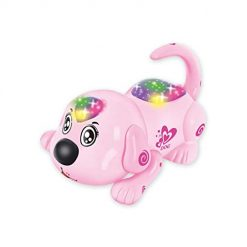 Asatr Cartoon Electronic Pet Animal Dog Toy Interactive Activities Kids Remote Control Toy Electronic Pets Pink