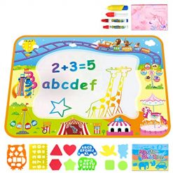 Kids Boys Girls Outdoor Water Toddler Toys - Outside Toys Toddlers-Water Drawing Mat - Large Aqua Magic Doodle Mat 40