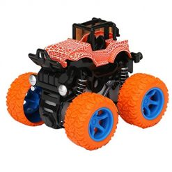 Pagacat Children Shockproof Inertia Four-Wheel Drive Simulation Vehicle Spring Toy Car Push & Pull Toys