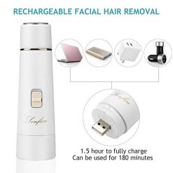 Facial Hair Removal for Women Rechargeable - 2019 USB Rechargeable Hair Remover Trimmer for Face, Armpit, Chin and Full Body, Best Gift for Women 1