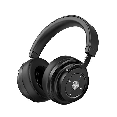 P20 Wireless Bluetooth Headphones Over ear, Deep Bass Black Headset with Mic, Big Comfortable Protein Earpads, 30 Hours Standby Time for Travel, Work with iPhone & Android Cell Phone/PC/TV