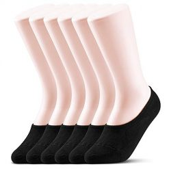 6-12 Pack Women No Show Socks Low Cut Liner Casual Cotton Sock Non Slip Invisible