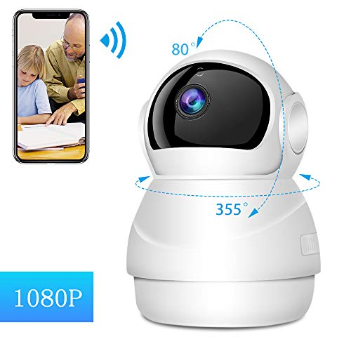 Security Camera Baby Monitor WiFi Camera Pet Camera,with Night Vision Two Way Audio Motion Detection HD 1080 Indoor Wireless Camera, for Care Pet Baby Nanny Child Elder Nanny And More