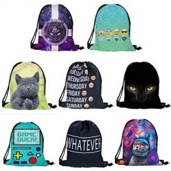 OYTRO Fashion Unisex Prints Drawstring Rope Backpack Bag for Daily and Travel Use Skirts