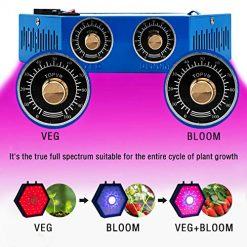 GULADO 1000W COB LED Grow Light for Indoor Plants,Adjustable Full Spectrum Light Growing Lamps with Veg&Bloom Switch, Grow Veg and Flower Light Indoor for Greenhouse Basement Planting ...