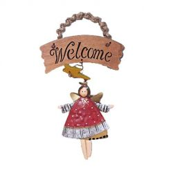 Asatr Vintage Style Welcome Sign Plaque Cafe Bar Pub Pendant Tag Wall Art Craft Decor Ornaments, 1Pcs