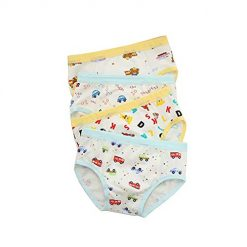 Sentukeji Boy's Super Bear Panties Car Hipster Kids Cotton Underwear 2-10 Years Old