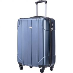 Merax Hardside Spinner Luggage with Built-in TSA Lock Lightweight Suitcase 20inch 24inch and 28 inch Available (Blue, 20 inch)