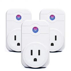 SIPAILING Smart Plug Wi-Fi Enabled Wireless Socket, Timer Outlet Control your Devices from Anywhere, No Hub Required, Work with Amazon Alexa and Google Assistant IFTTT (3 pack)