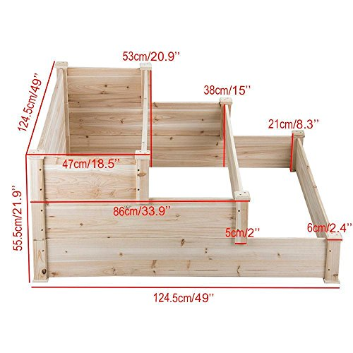 Cheap Garden Raised Beds, Yaheetech 3 Tier Wooden Raised