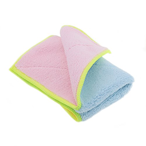 Shinyjoy 5 Pack Microfiber Dish Towels Household Kitchen Towels for  Cleaning Kitchen/Car/Glasses/Furniture Soft Dish Cloths Pink with Blue