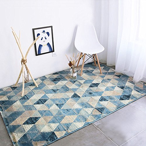 CBOKE Deluxe Indoor Modern Faux Sheepskin Shaggy Rugs Anti-Skid Shag Rug Dining Room Home Bedroom Carpet Floor Mat Kids Play Rug 45.6 x 62.9 Inch