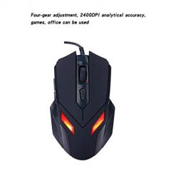 Asatr USB Wired Gaming Mouse 2400DPI 6 Buttons LED Professional Mouse Mice