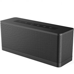 [Upgraded] Meidong 3119 Portable Wireless Bluetooth Speaker with 20W Stereo Sound, Large Volume Active Extra Bass, Wireless Stereo Paring, Waterproof IPX5, 10 Hrs Battery Life - Black