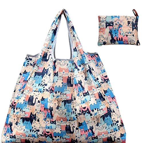 Edited Portable Foldable Cartoon Pattern Square Environmentally Friendly Shopping Bag Reusable Grocery Bags