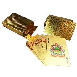 Fanala New Playing Cards Gold foil Durable Poker Cards Deck of Cards Playing Cards