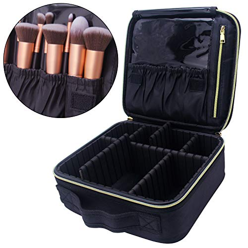 6c326ac4ed22 MONSTINA Makeup Train Cases Professional Travel Makeup Bag Cosmetic Cases  Organizer Portable Storage Bag for Cosmetics Makeup Brushes Toiletry Travel  ...
