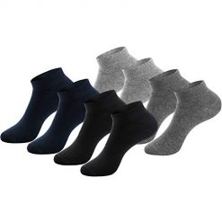 GOBEST 100% Cotton Dress Socks Men Comfy Casual Crew Business for Men Women - 8 Pack (B, One Size)