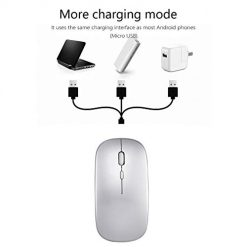 Fanala Wireless Charging Mouse Ultra-thin Silent Mouse for Office Use Mice
