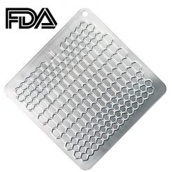 PDair Fast Defrosting Tray for Frozen Foods, Rapid Thawing Plate Large Board for Frozen Meat, Kitchen Defrosting Mat Pad FDA Approved, Made of Aviation Aluminum, Quickly Thawing and Keeping Food Fresh