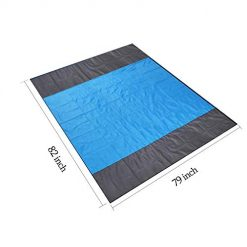 Mumu Sugar Sand Free Beach Mat, Extra Large 82''×79'' Waterproof Quick Drying Ripstop Sand Proof Nylon Compact Beach Blanket Best Outdoor Picnic Mat for Travel, Camping, Hiking and Music Festivals 1