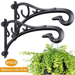 Hand Forged Hanging Plant Bracket,Heavy Duty Artistic Wall Hook (13